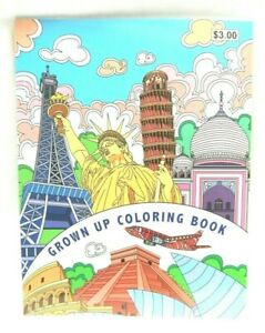 Grown Up Adult Coloring Book Color Pages Towers Buildings Landmarks 32 Pages Ebay