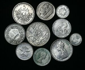 World Coin Collection Lot Of 10 Silver Coins Dates Countries Auction From 1 Ebay