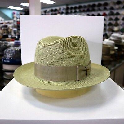 BILTMORE GENUINE MILAN PINK FEDORA DRESS HAT