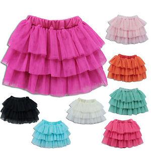 Nuovo-Carino-per-Bambine-Rara-Gonna-in-Tulle-in-12-Colours-da-9-Mesi-a-7-Years