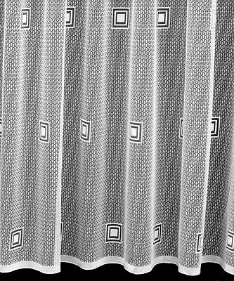 RUBY - TOP QUALITY NET CURTAIN - SQUARE DESIGN - 11 DROPS - SOLD BY THE METRE