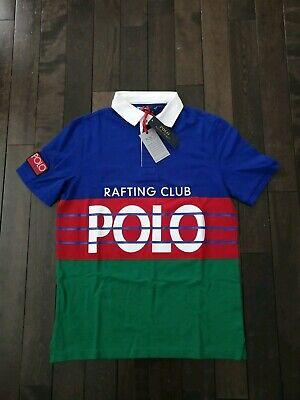 NWT Polo Ralph Lauren Hi Tech Rafting Club Rugby Shirt Classic Fit Men/'s XL