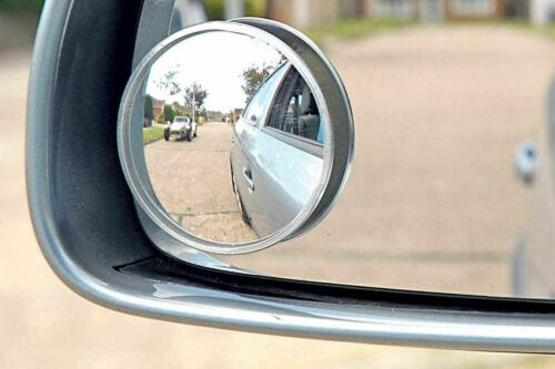 """Sommet 2x Blind Spot Miroir Rond Adhésif 2/"""" pouces Ajustement Facile Large Angle de vue de Van"""
