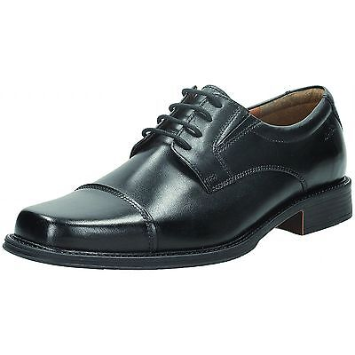 Kett Clarks Baze Day Black Leather Lace-up Shoes  /'G/' Fitting R38B