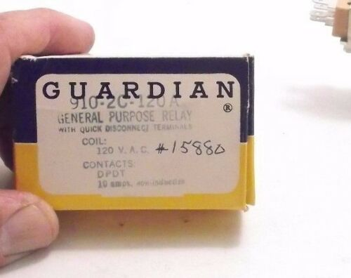 DPDT 10A Quick Disconnect GUARDIAN 910-2C-120A Relay PPD 120 VAC Coil