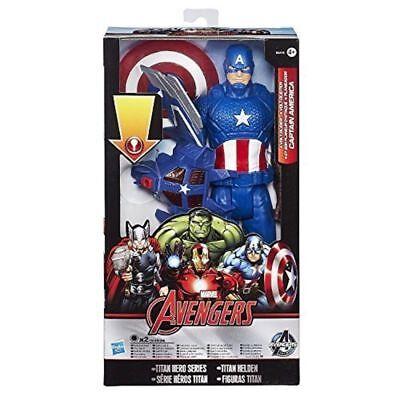 "Captain America 12/"" Titan Hero light up Glider Action Figure New Sealed"