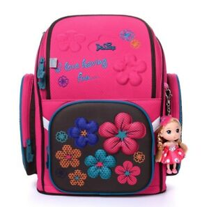 Delune School Bag Children Girl Floral Backpack Russia Style Student ... 22bcc671195f1
