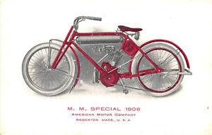 Brockton-MA-1908-034-Special-034-Motorcycle-American-Motor-Postcard