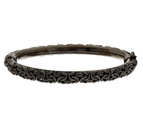 """Vicenzasilver Sterling Silver byzantin Vicenza 6-3//4/"""" Bracelet Jonc QVC $141"""