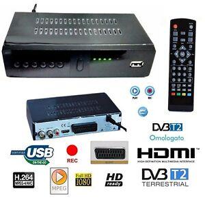 DECODER-RICEVITORE-DIGITALE-TERRESTRE-DVB-T2-TV-SCART-HDMI-1080P