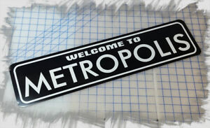 """WELCOME TO HALLOWEEN TOWN 6/""""x24/"""" ALUMINUM SIGN"""