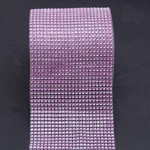 Rhinestone Diamond Ribbon Mesh Wrap Party Wedding Floral Decorations Supplies