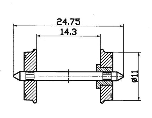 ROCO 40264 RUOTA ISOLATO rp25 11mm 2x