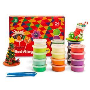 24-farben-Modelliermasse-Polymer-Lufthaertend-Plastilin-Weichen-Teig-Spielzeug
