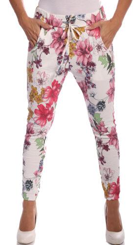 Pantalon stretchbund dans floraux pression Design Avec Cordon Coulissant liaison Onesize 36-42