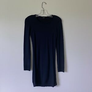 Medium-THEORY-Womans-Navy-Blue-Thin-Wool-Pullover-Sweater