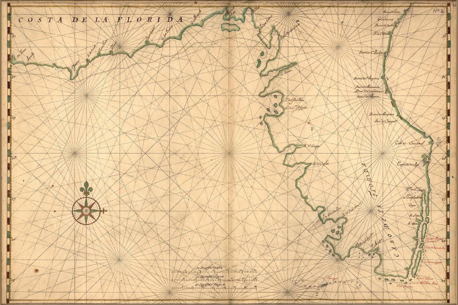Poster, Molte Misure; Mappa Del The Peninsula di Florida
