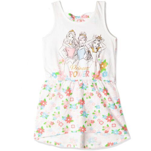 Official Disney Princess Girls Sleeveless Summer Cotton Dress Tunic Top 2-6 yrs