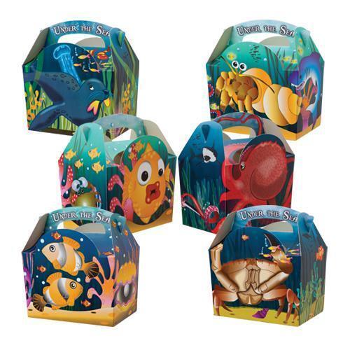 8 sous la mer ocean farine de poisson boîtes ~ Fête D/'Anniversaire Sac alimentaire ~ boîte de pique-nique