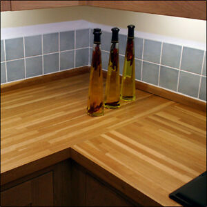 Image Is Loading Solid Oak Wooden Kitchen Worktops 3m 620mm 40mm