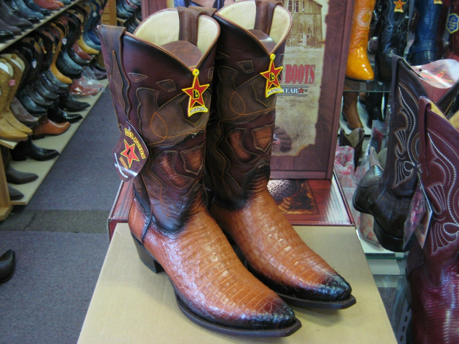 LOS ALTOS femmes COGNAC GENUINE GENUINE GENUINE SNIP TOE CROCODILE WESTERN COWBOY démarrage (M L928257 fbbbc6