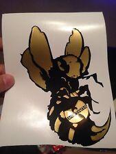 Wu Tang Killer Bee Vinyl Sticker (GOLD) C.R.E.A.M. , Cappadonna, BOMBATOMIK