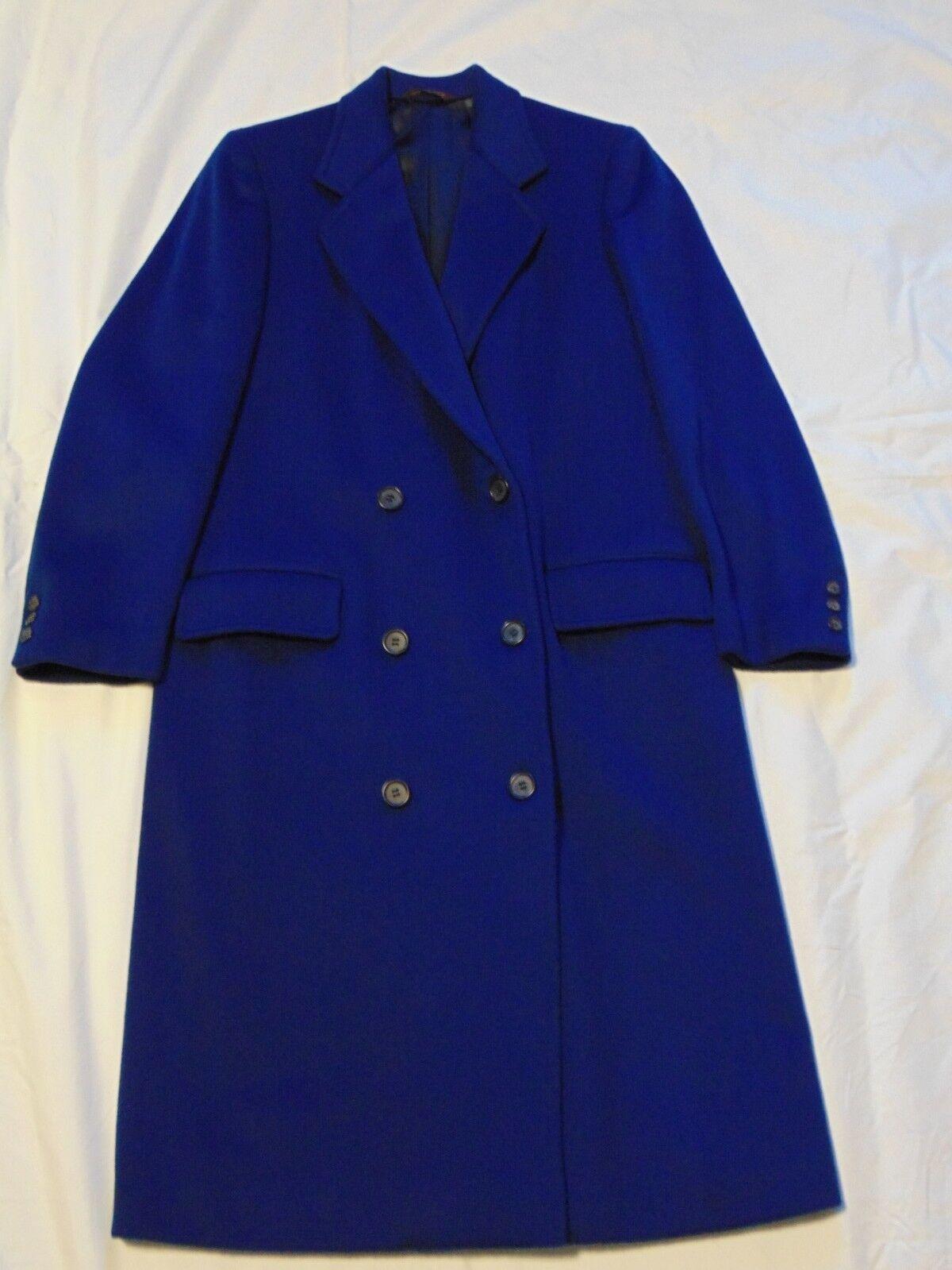 Women's Women's Women's Wool Coat Electric bluee c8b68e
