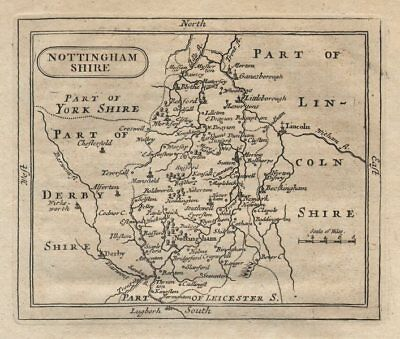 Antique County Map Of Nottinghamshire By John Seller / Francis Grose C1780 Sturdy Construction