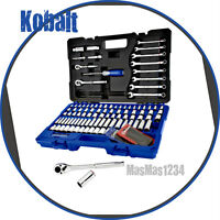 Kobalt 138 Piece Standard/ Metric Mechanic's Tool Kit Hard Case, 1/2 3/8 1/4