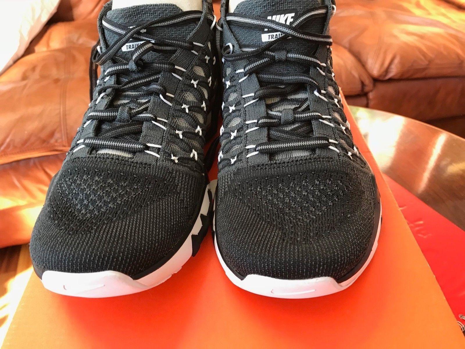 Nike men's Train Ultrafast Flyknit 843694 010 Black White sz 7 Orig