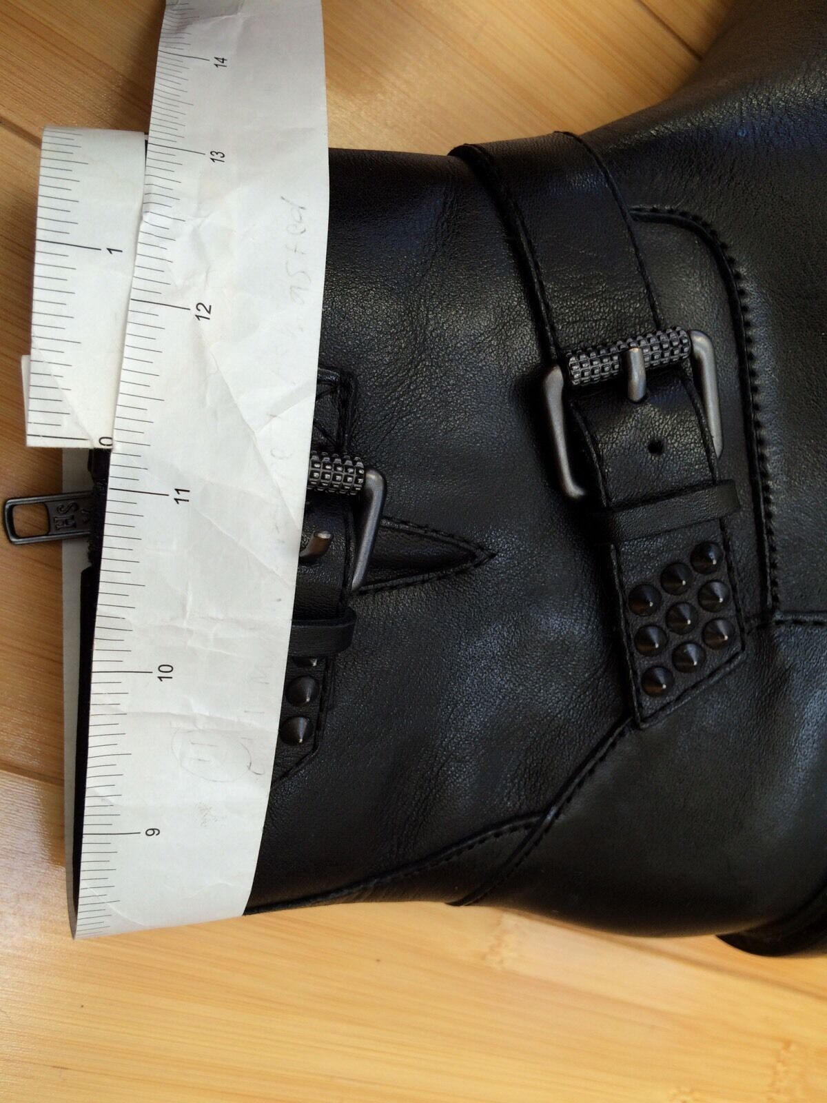 Nuevas botas al Tobillo ceniza Punky bis Tachonado Tachuelas 38 Bota Botines Negro Cuero Talla 38 Tachuelas 8 6354a7