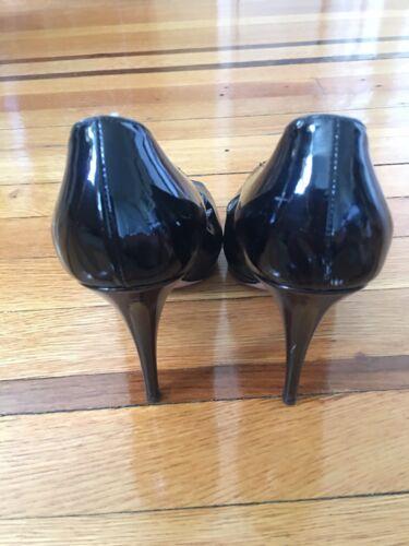 noir cuir bout ouvert Chaussure à verni Prada en mN80wvn