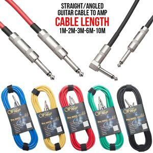 1M-10M-6-5mm-Jack-Cavo-Chitarra-Basso-Strumento-ACUSTICA-PER-Amp-Cavo-Audio