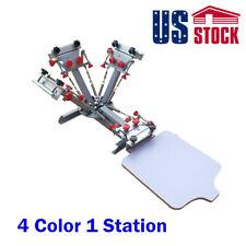 Usa 4 Color 1 Station Screen Printing Press Machine T Shirt Printer