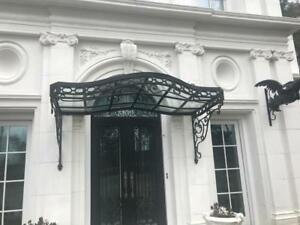 INCREDIBLE VICTORIAN STYLE HAND WROUGHT IRON CANOPY ...