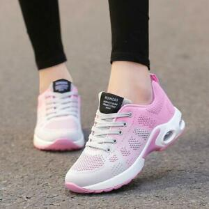Women/'s Running Shoes Breathable Athletic Casual Sneakers Sports Walking Te E4U3