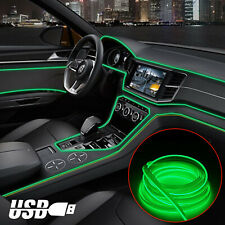 98ft Green Car Interior Atmosphere Wire Strip Light Led Decor Lamp Accessories