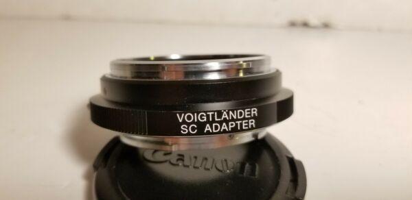 Bague D'adaptation Voigtlander Pour Objectif Nikon/contax S Sc Vers Sony E Correspondant En Couleur