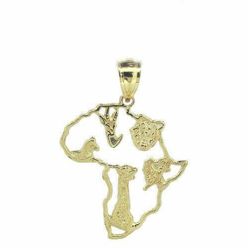 14k Yellow Gold Elephant Charm Pendant