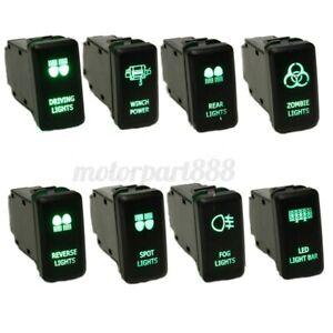 12V-OEM-Push-Switch-Spot-Work-DRIVING-LIGHTS-LED-Green-For-Toyota-FJ