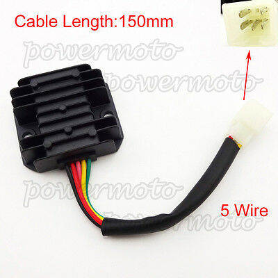voltage regulator rectifier 5 wire for gy6 50cc 125cc. Black Bedroom Furniture Sets. Home Design Ideas