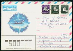 Mayfairstamps Lithuania to Boys of America WA DC Cover wwk_46845