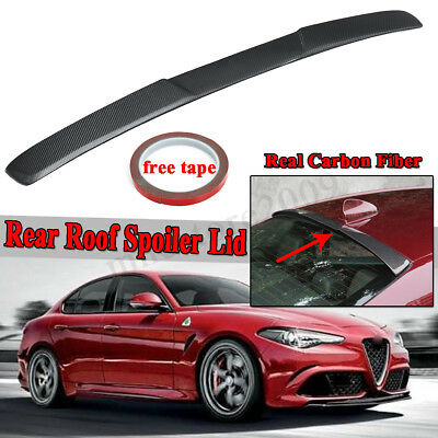 FOR 2015-2018 BMW F82 M4 COUPE REAL CARBON FIBER REAR WINDOW ROOF SPOILER WING