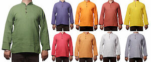 Men-039-s-Indian-Cotton-Shirt-Short-Kurta-Indian-Clothing-Mens-Fashion