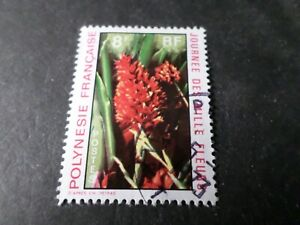 Polynesien-1971-Briefmarke-83-Blume-Rot-Los-B-Entwertet-VF-Briefmarke