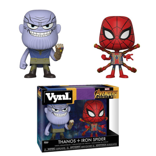 Funko Marvel Vynl Thanos Iron Spider Figure Set NEW Toys Collectibles IN STOCK