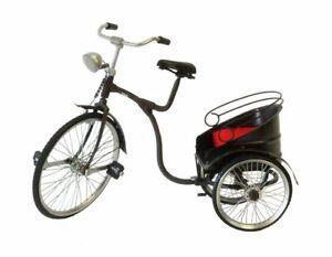Dettagli Su Bicicletta Riscio In Metallo Realizzata A Mano Riproduzione Collezione Soprammo