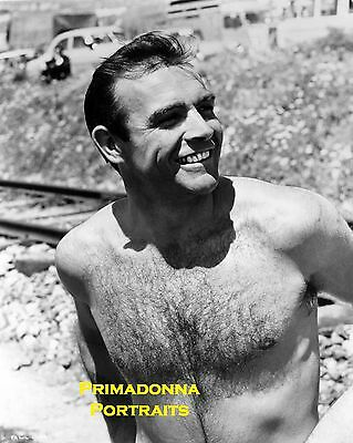 Sean Connery Black White 8x10 Lab Portrait Photo Shirtless Sexy James Bond Man Ebay