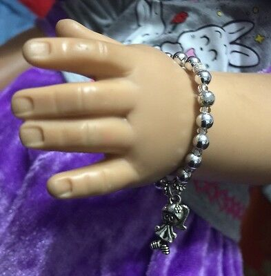 "18/"" 3.5/"" Elastic Bracelet With Charm To Fit American Girl Doll USA SELLER"
