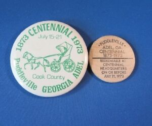Details About Official Button Wooden Nickel 1973 Cent Adel Cook County Ga Puddleville